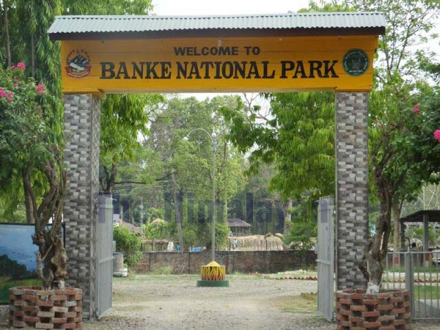 A view of the entry point to Banke National Park as seen on Wednesday, January 1, 2020. Photo: Tilak Gaunle/THT
