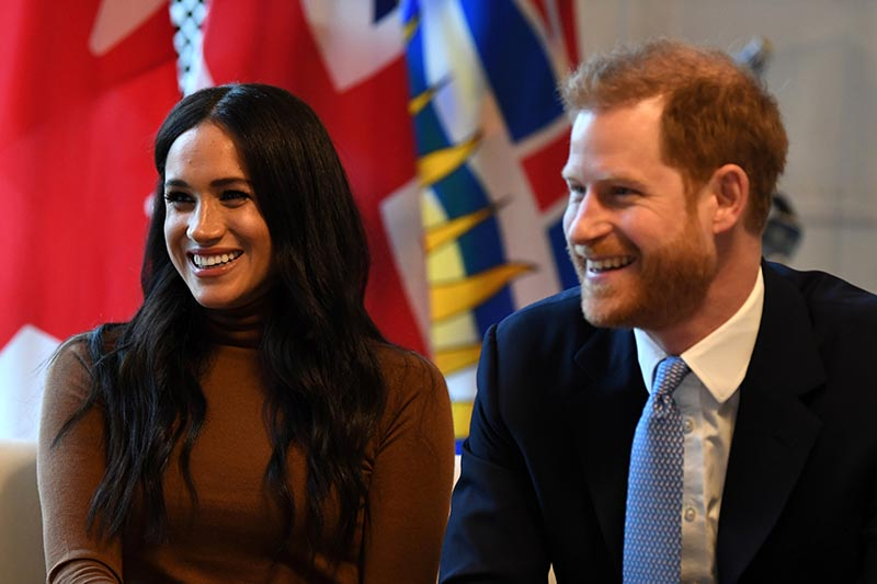 Britain's Prince Harry and his wife Meghan, Duchess of Sussex visit Canada House in London, Britain  January 7, 2020. Photo: Daniel Leal-Olivas/Pool via Reuters