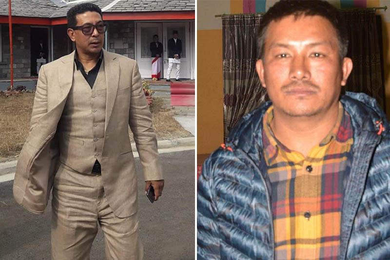 This undated combo image shows Gandaki Provincial Assembly member Rajiv Gurung, aka Deepak Manange (left), and ANFA Kaski President Milan Gurung. Photos: Bharat Koirala/THT