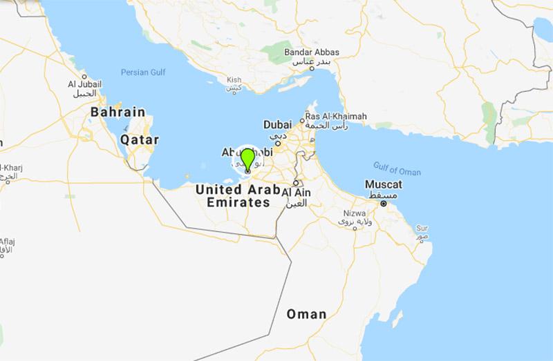 The United Arab Emirates. Photo: Google Maps