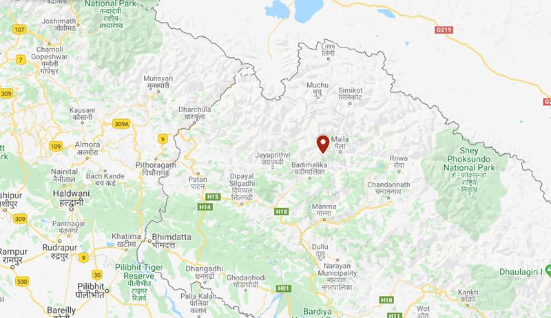 Bajura district. Image: Google Maps