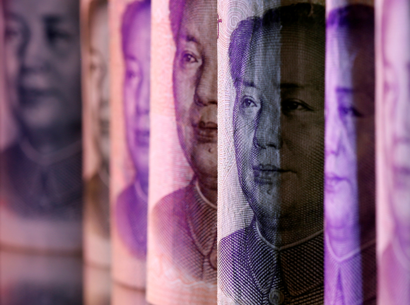 Chinese Yuan banknotes are seen in this illustration taken February 10, 2020. Photo: Reuters