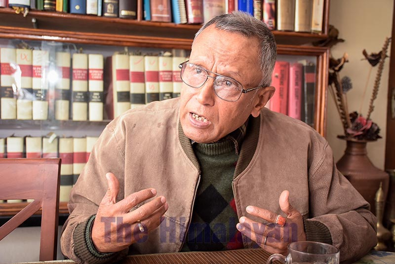 Interview with former justice of Supreme Court Bala Ram KC, on Friday, February 21, 2020. Photo: Naresh Shrestha/THT