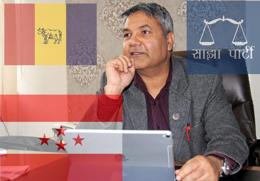 Gokul Prasad Baskota, Minister of Information and Communications. Photo: Balkrishna Thapa/ THT