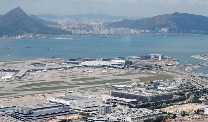 A general view of Hong Kong International Airport, China September 6, 2019. Photo: Reuters/File