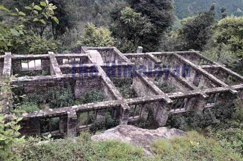 An unfinished structure of a maternity hospital at Majkot in Jajarkot district, as seen on Monday, February 03, 2020. Photo: Dinesh Kumar Shrestha/THT