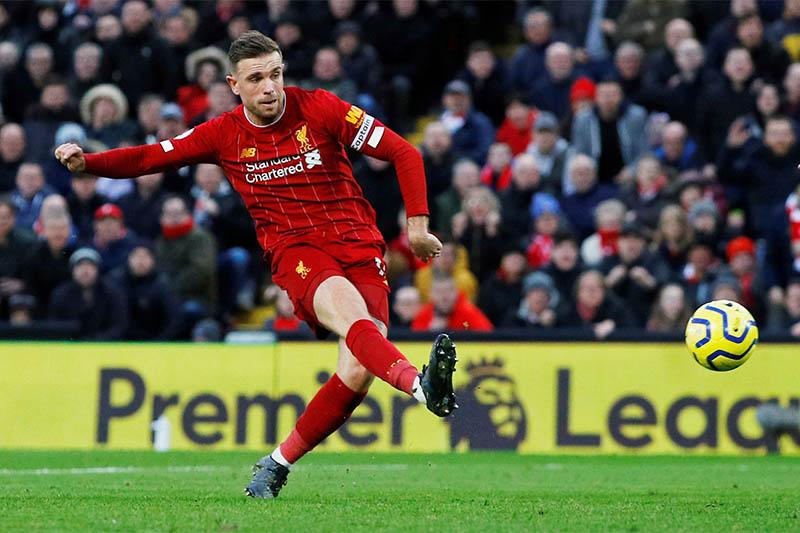 Liverpool's Jordan Henderson in action. Photo: Reuters