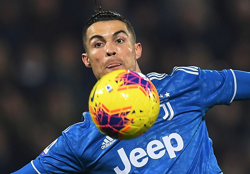 Juventus' Cristiano Ronaldo in action during the Serie A match between SPAL and Juventus, at Paolo Mazza, in Ferrara, Italy, on February 22, 2020. Photo: Reuters
