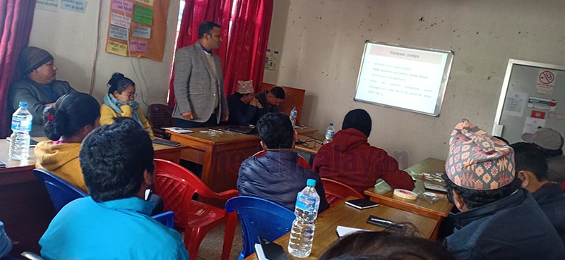 Participants during a programme organised to inform about the status of Lymphatic Filariasis, commonly known as elephantiasis, in Besisahar, Lamjung, on Sunday, February, 2020. Photo: Ramji Rana
