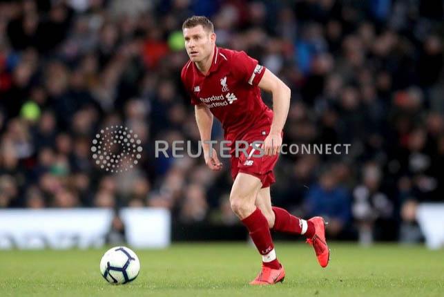 Liverpool's James Milner in action. Photo: Reuters