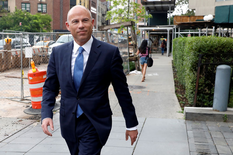 FILE PHOTO: Attorney Michael Avenatti arrives at United States Court in the Manhattan borough of New York City, New York, U.S., July 23, 2019. File Photo: Reuters