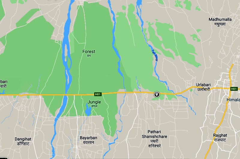 This image shows Patharisanischare area. Image: Google Maps
