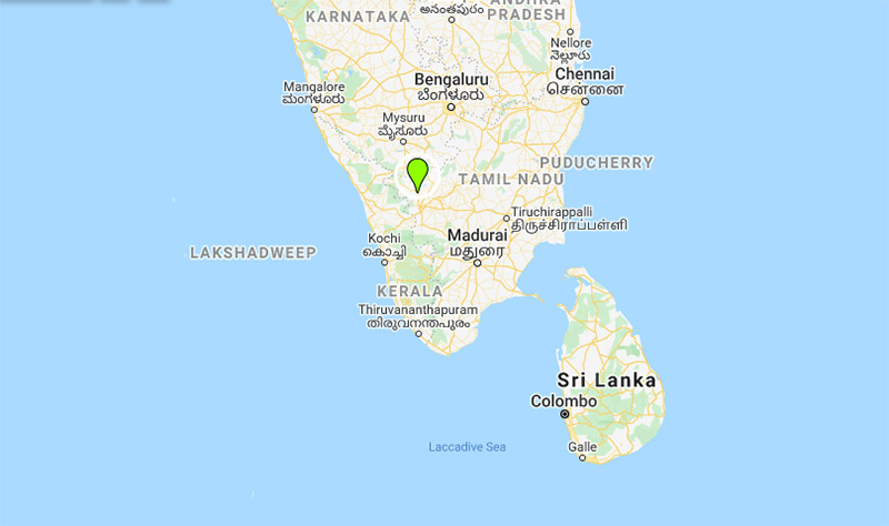 Naripallam, a town in Tamil Nadu state, India. Image: Google Maps