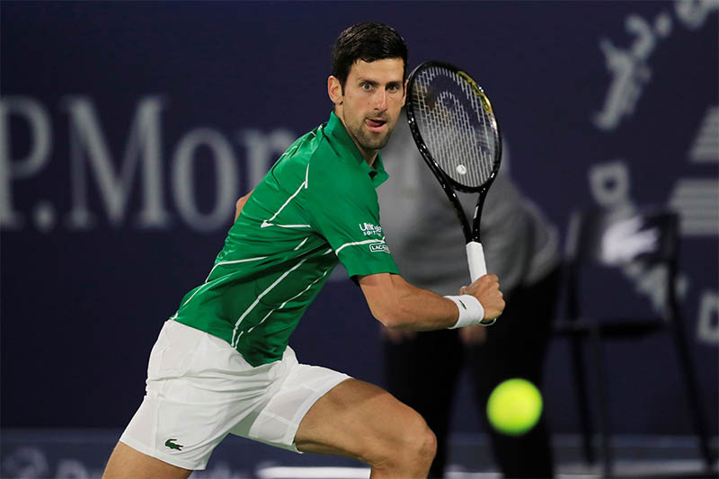 Serbia's Novak Djokovic in action during his second round match against Germany's Philipp Kohlschreiber. Photo: Reuters