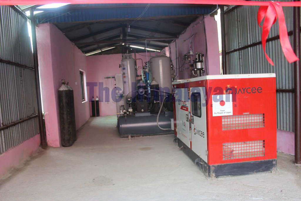 A view of a newly installed oxygen plant built in Dhankuta hospital, in Sunsari district, on Thursday, February 27, 2020. Photo: Khagendra Ghimire/THT