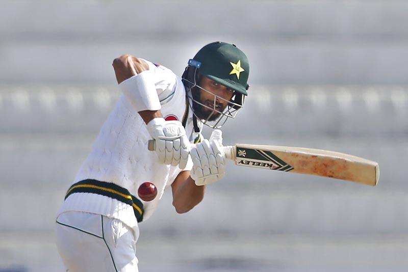 Pakistani batsman Shan Masood bats during the second day of the first test cricket match against Bangladesh at Rawalpindi cricket stadium in Rawalpindi, Pakistan, Saturday, February 8, 2020.Photo:AP