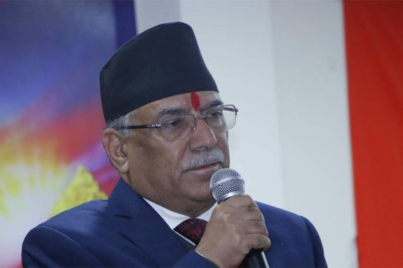 This undated image shows Nepal Communist Party (NCP) co-chairman Pushpa Kamal Dahal addressing a function. Photo courtesy: cmpranchanda.com