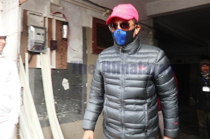 FILE - Rape-accused suspended Senior Superintendent of Police (SSP) Saurav Rana walks out of the District Court, in Sunsari, on Monday, February 03, 2020. Photo: Santosh Kafle/THT