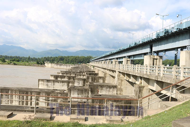 A view of the under construction main dam of Sikta Irrigation Project, in Banke, on Wednesday, February 26, 2020. Photo: THT