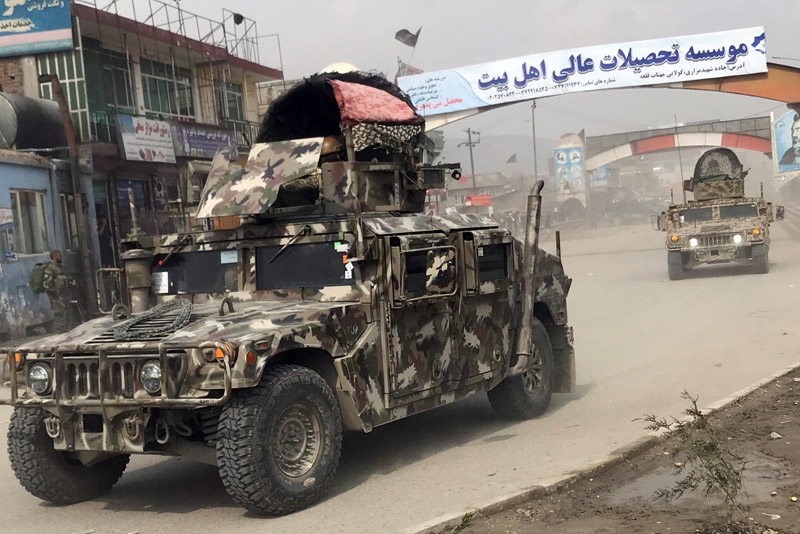 Afghan security forces arrive near the site of an attack in Kabul, Afghanistan March 6, 2020. Photo: Reuters