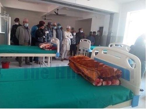 The isolation ward prepared at Bhojpur District Hospital following the coronavirus scare in Bhojpur district, on Sunday, March 22, 2020. Photo: Niroj Koirala/ THT