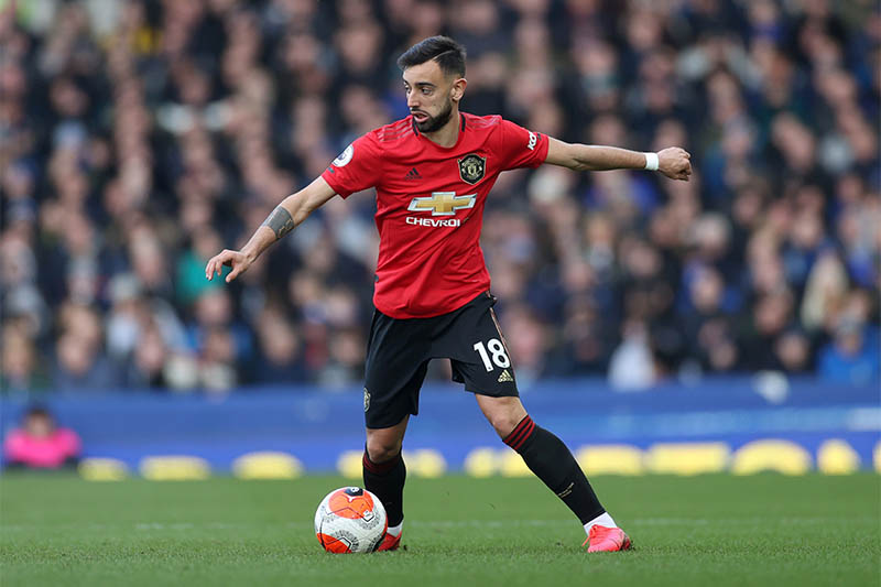 Manchester United's Bruno Fernandes in action. Photo: Reuters