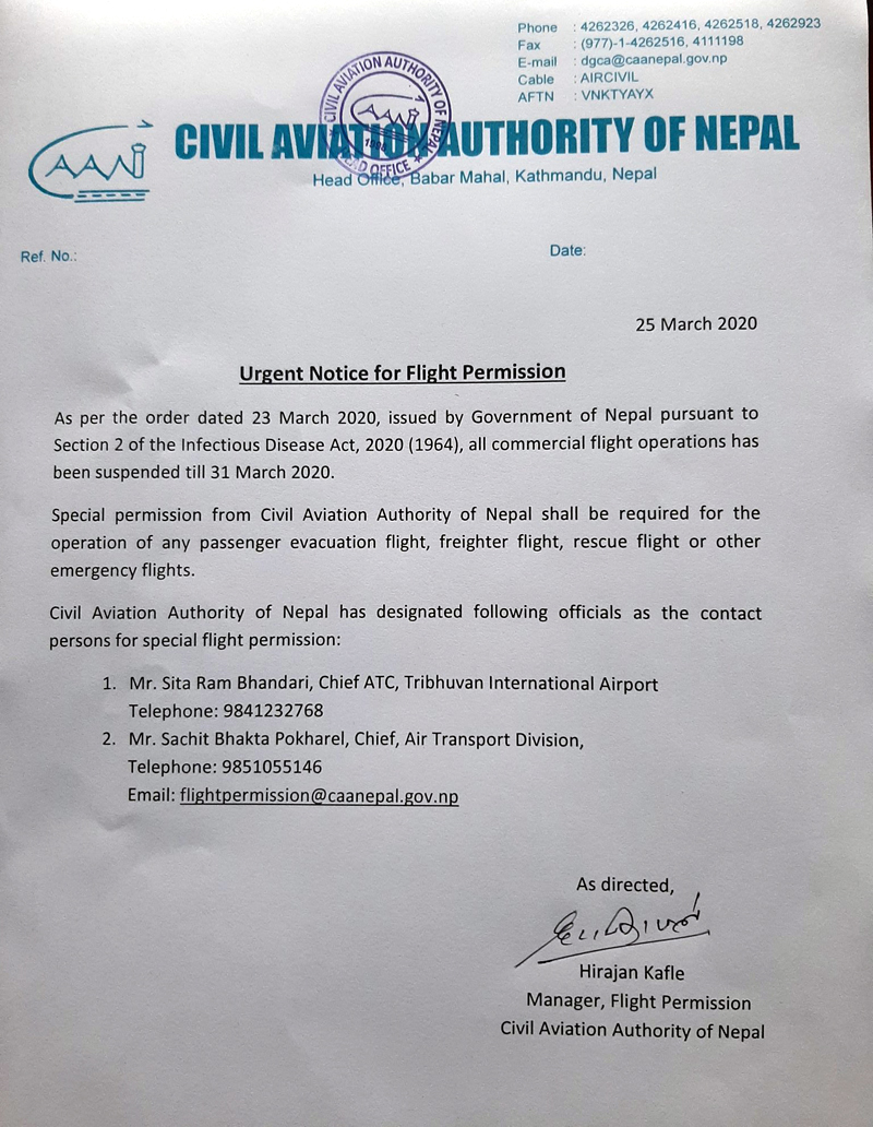 Courtesy: Civil Aviation Authority of Nepal/Twitter