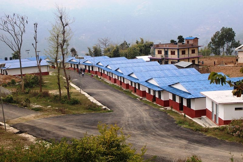 A view of newly constructed buildings in the industrial area of Dhankuta Municipality, on Sunday. Photo: THT