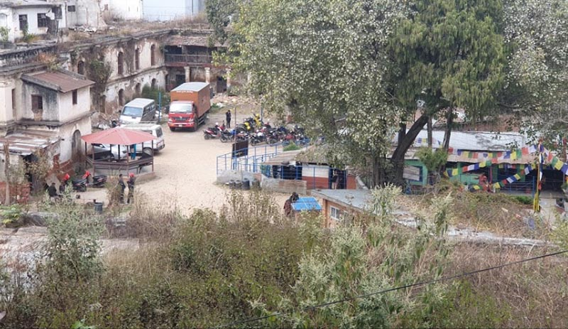 This image shows the premises of Dillibazar Prison in Kathmandu, in March 2020. Photo coutrtesy: RJ