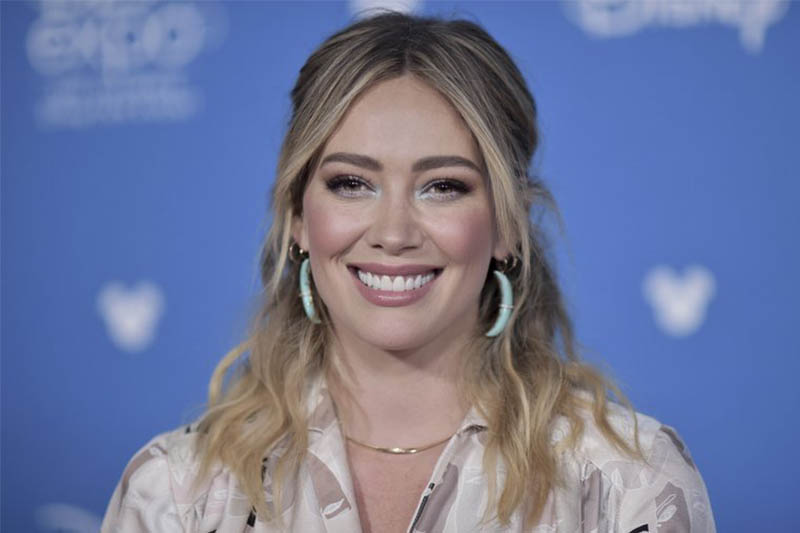 FILE - In this Aug. 23, 2019, file photo, Hilary Duff attends the Disney+ press line at the 2019 D23 Expo in Anaheim, Calif. Photo: AP