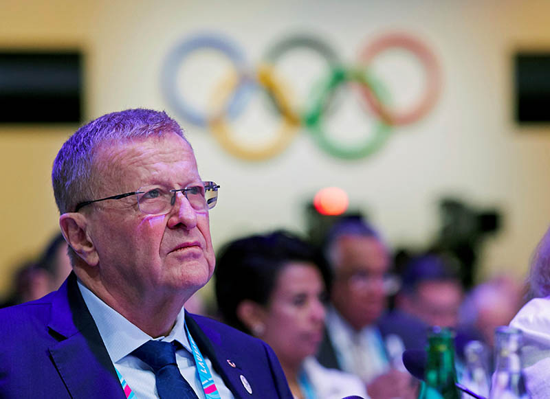 FILE - International Olympic Committee member John Coates attends the International Olympic Committee (IOC) 135th Session in Lausanne, Switzerland, January 10, 2020. Photo: Reuters