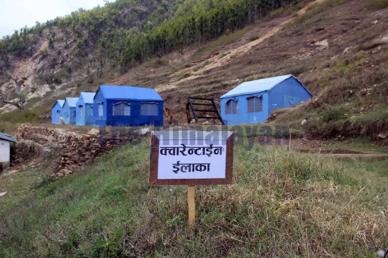 A view of the quarantine zone in Jajarkot district, as on Thursday, March 26, 2020. Photo: Dinesh Kumar Shrestha/THT
