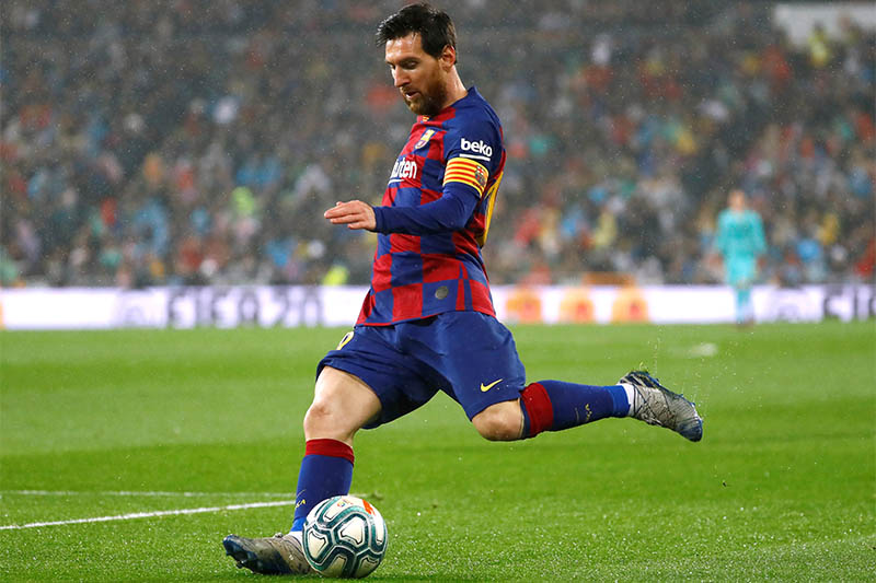 Barcelona's Lionel Messi in action. Photo: Reuters