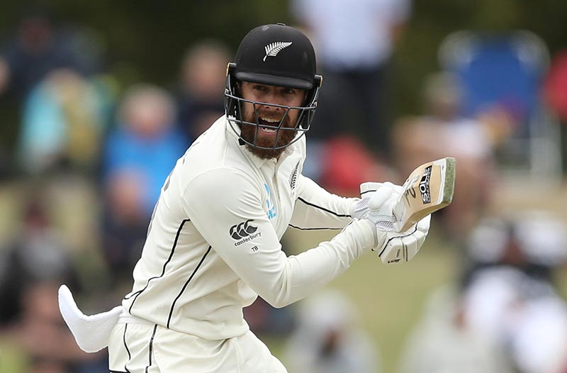 New Zealand's Tom Blundell reacts during the Second Test match during the New Zealand and India, at Hagley Oval, in Christchurch, New Zealand, on March 2, 2020. Photo: Reuters