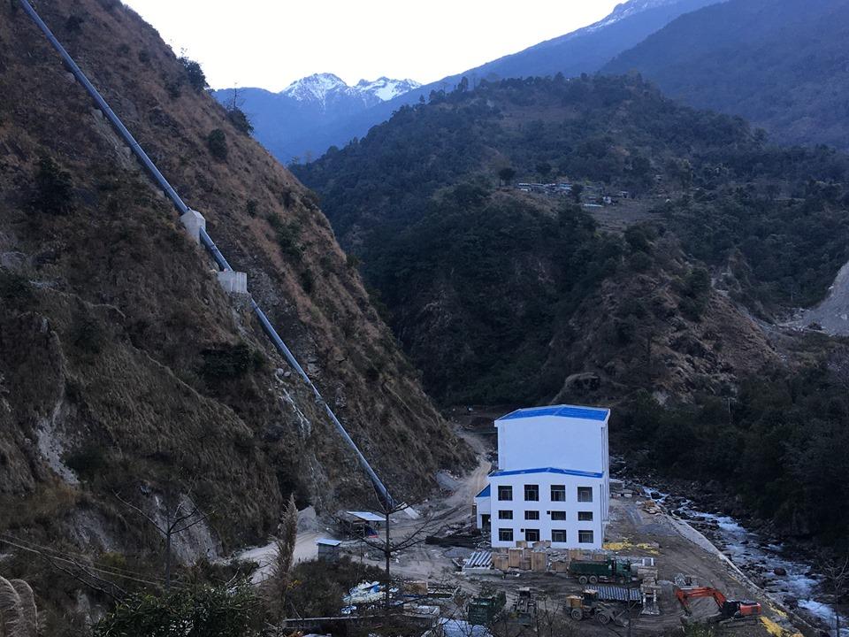 Nyadi Hydropower Project, Lamjung. Photo: Ramji Rana/THT
