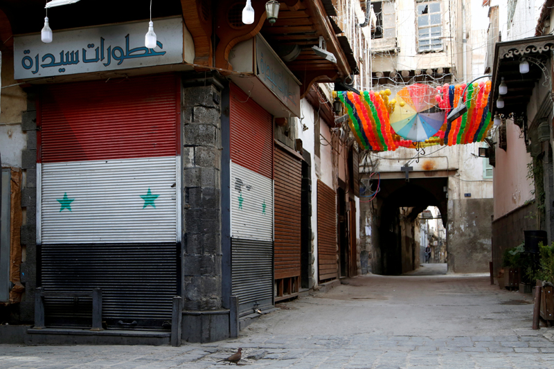 A view shows closed shops as part of the preventive measures against the spread of the coronavirus disease (COVID-19), in the old city of Damascus, Syria March 24, 2020. Photo: Reuters/File
