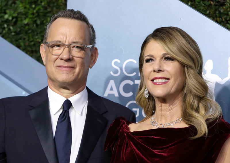 Tom Hanks and Rita Wilson arrive at the 26th Screen Actors Guild Awards in Los Angeles, California, US, January 19, 2020. Photo: Reuters/File