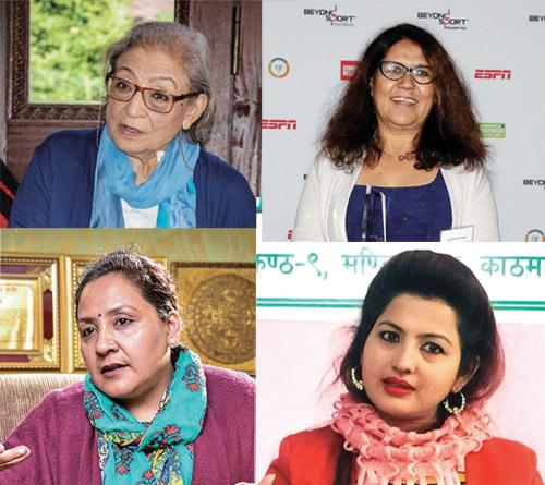 A combination image of Ambica Shrestha, Lucky Chhetri, Anupama Khunjeli and Radha Pokhrel.