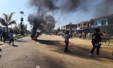 Riot started at Kohalpur-Nepalgunj road section, Banke district on March 11, 2020. Photo: Tilak Gaule