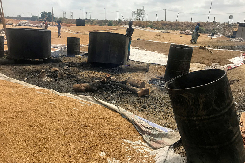 Unused drums for boiling rice are pictured at Wurukum rice mill in Makurdi town, in Benue state, as authorities try to contain the spread of coronavirus disease (COVID-19), Nigeria April 13, 2020. Photo: Reuters
