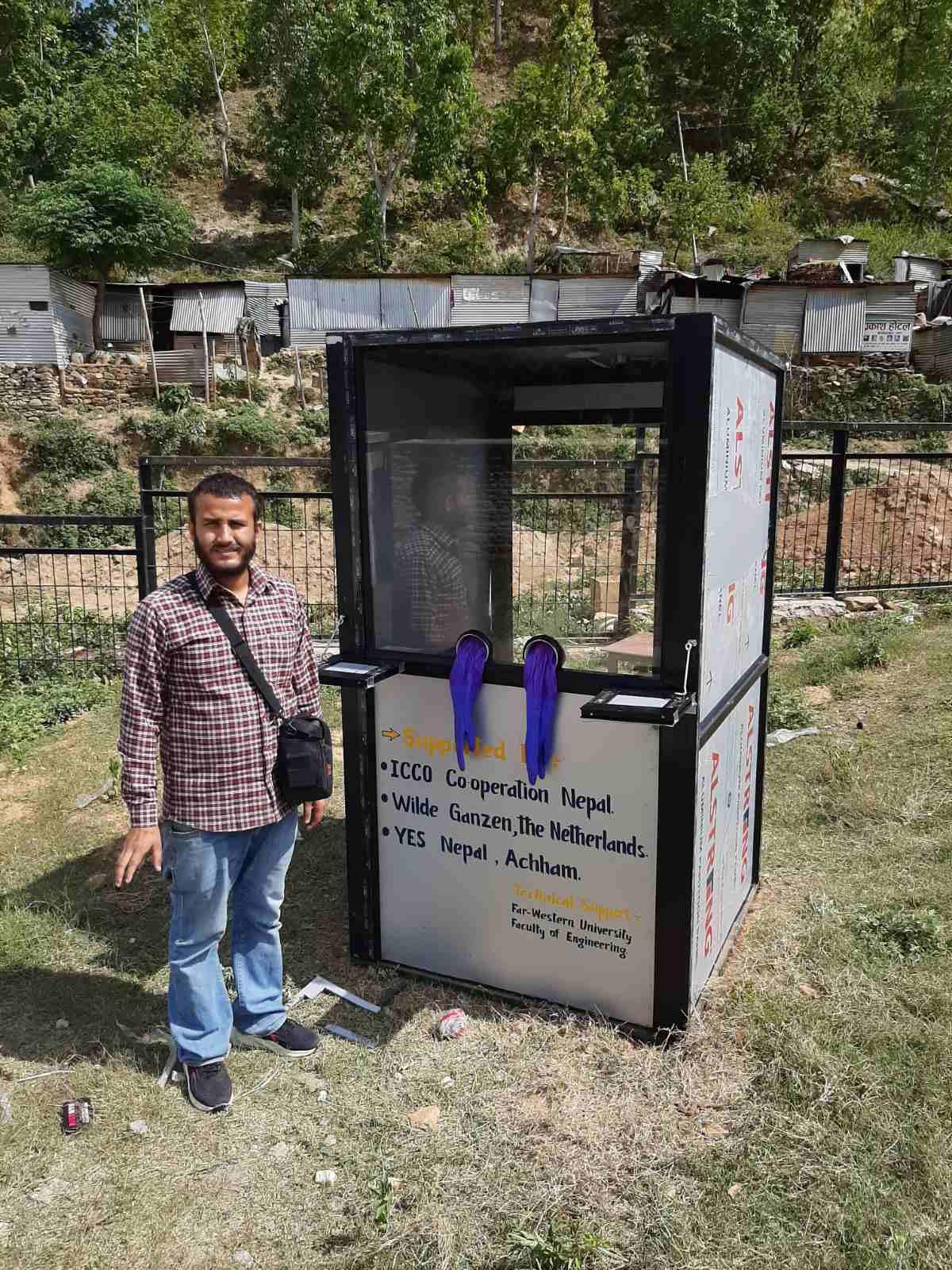 Isolation Booth for screening Covid patients in Bayalpata Hospital. Photo: Nyaya Health Nepal