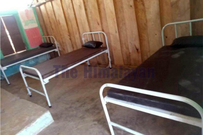Isolation beds set up in Jajarkot district as captured on Thursday, April 09, 2020. Photo: Dinesh Kumar Shrestha/THT