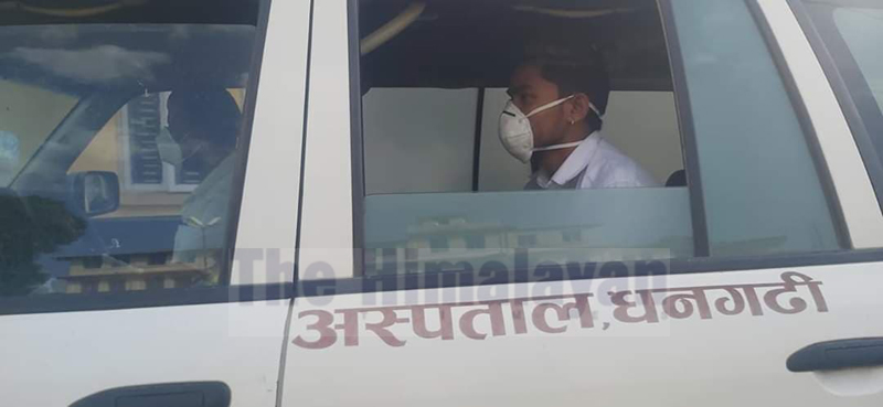 Youth from Lamkichuwa Rural Municipality, who tested negative after second and third test for coronavirus returns home, Sunday, April 19, 2020. Photo: Tekendra Deuba/THT