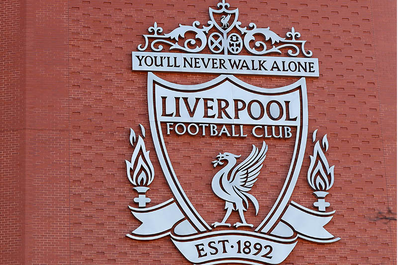 FILE PHOTO: General view of the Liverpool logo on Anfield. Photo: Reuters