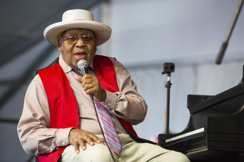 Ellis Marsalis during the New Orleans Jazz & Heritage Festival in New Orleans,  April 28, 2019.  Photo: AP/File