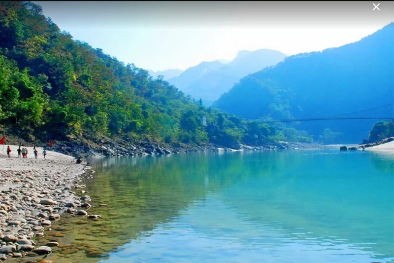 A view of the Ganges River in the Himalayan foothills in Rishikesh, Uttarakhand State, India,in September 2018. Photo courtesy: Venkatesh Bhat