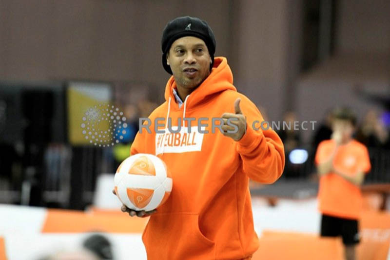 FILE: Ronaldinho plays Teqball at the Teqball World Championship in Budapest, Hungry. Photo: Reuters