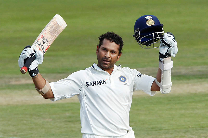 FILE PHOTO: Born on April 24, 1973: Sachin Tendulkar, Indian Cricketer  India's Sachin Tendulkar celebrates his century against South Africa on the fourth day of the first cricket test match in Pretoria, December 19, 2010. Photo: Reuters