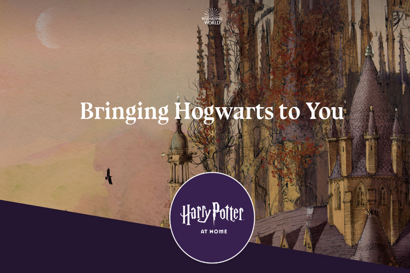A screeshot of the webpage from harrypotterathome.com.