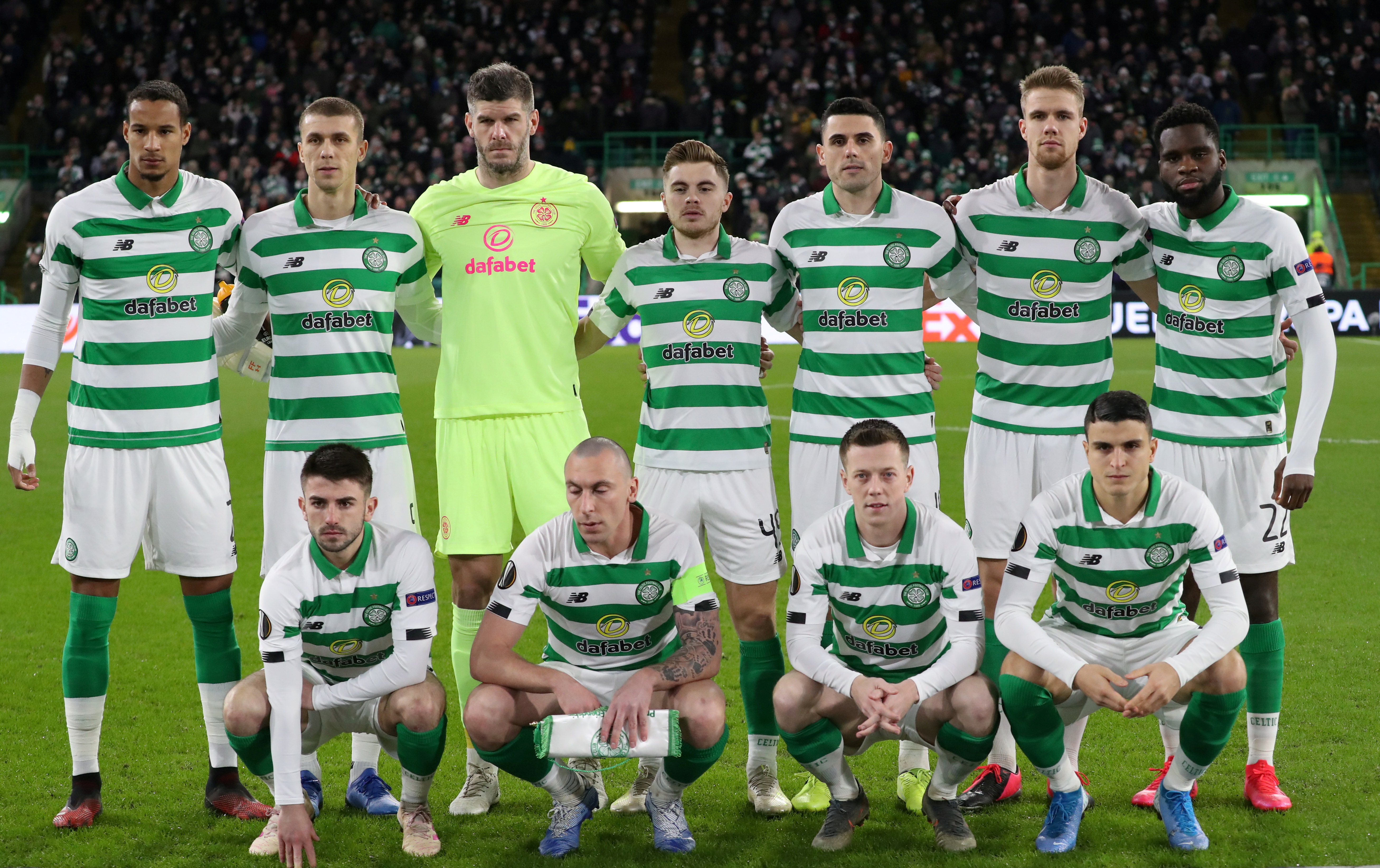 FILE PHOTO: Celtic players pose for a team group photo before the match. Photo: Reuters